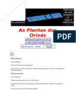 as plantas de orixás