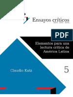 "Katz, Claudio ""Elementos para una lectura Crítica de América Latina"