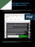 Instructivo Licencia Office Pro Plus
