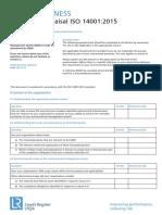 9858 Iso 140012015 Self Appraisal Questionnaire