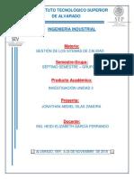 UNIDAD 3 NORMAS NACIONALES E INTERNACIONALES DE GESTION DE LA CALIDAD