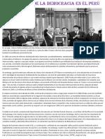 El Regreso de La Democracia en El Perú