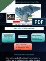 Presentacion N° 2 MÉTODOS DE EXPLOTACIÓN