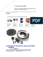 Kit de Clutch Chevrolet Optra 2007