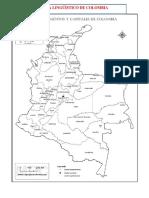 Mapa geográfico y lingüístico de Colombia