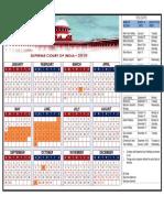 Supreme Court Calendar 2019