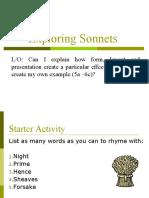 Exploring Sonnets