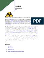 Peluruhan radioaktif makalah