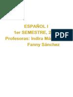 Manual de Español 2_1era Unidad_ 2do Semestre (1)