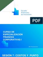 EAI Finanzas Corporativas. Sesión 7