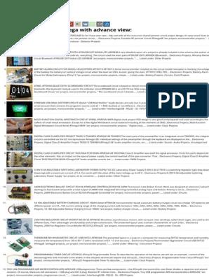 Atmega AVR Microcontroller 1500 Projects List - eBook