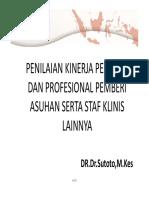Indikator Kinerja Perawat Staf Klinis Lainnya Wspmkp Dr Sutoto