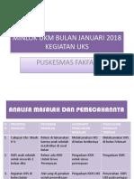 Minlok Ukm Bulan Januari 2018 Kegiatan Uks
