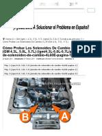 Parte 1 -Cómo Probar Los Solenoides de Cambio a y B (GM 4.3L, 5.0L, 5