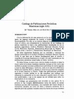 Catalogo de Publicaciones Periodicas Masonicas SXIX)