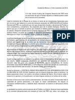 Posicionamieno Ante Los Hechos Del Congreso Nacional Del PRD