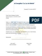 Carta Invitacion Pastores