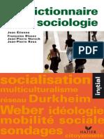 Dictionnaire de sociologie - Francoise Bloess.epub