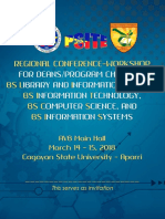 CDITE PSITE Conference Workshop Programme
