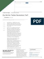 ¿Revoluciones en Twitter?