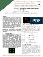 Efficient Design of 2 1 MUX Multiplexer using Nanotechnology Based on QCA