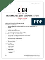 CEHv10 Course Outline