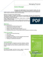 Prasetya Mulya - Finance for Non Finance Manager Brochure