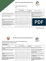 Informe de Evaluacion de Actividades Pecud 2018