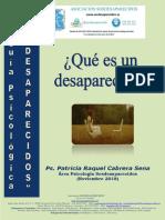 GUIA PSICOLOGICA DESAPARECIDOS Que Es Un Desaparecido Edicion Noviembre 2018 I
