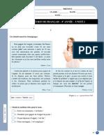 Francês - 8 ano - 2.º Teste (Compreensão Oral)