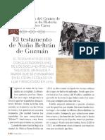 El Testamento de Nuño Beltran De Guzman