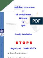 9 Education Installation Procedure of Split Airconditioners