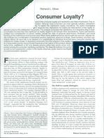 Lealdade dos consumidores