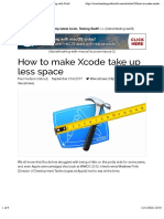 How to Make Xcode Take Up Less Space – Hacking With Swift