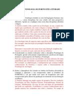 Fonologia Do Português - Atividade 1