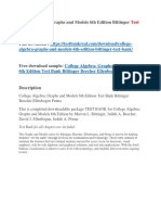 College Algebra Graphs and Models 6th Edition Bittinger Test Bank