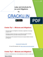 Mixtures and Alligations Formulas Cat PDF