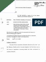 The Attorney General of Jamaica v Junior Doctors Association, Etal