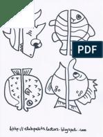 Manualitat Peixos Pinces Plantilla