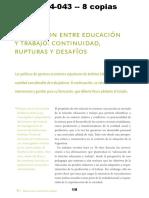 Aa RIQUELME - La Relación Entre Educación y Trabajo Continuidad, Rupturas y Desafíos