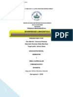 Monografia Diversidad Liguitica en El Peru
