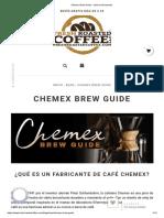 Chemex Brew Guide - Café Recién Tostado