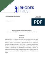 Rhodes Scholars list 2019
