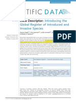 Pagad Et Al 2018 Introducing the Global Register of Introduced and Invasive Species