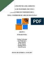 Informe Compresor de Aire de Dos Etapas