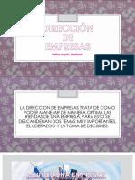 DIRECCIÓN DE EMPRESAS.pptx