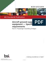 BS EN 12312-4 Aircraft Ground Support Equipment (Part 4