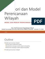 teori dan model perencanaan wilayah