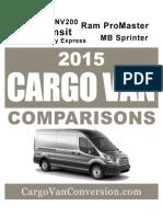 2015 Cargo Van Comparison