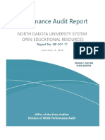 2018 NDUS - Performance Audit - Open Educational Resources